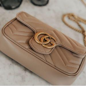 Supermini GG Marmont 2.0 Matelassé Leather Bag